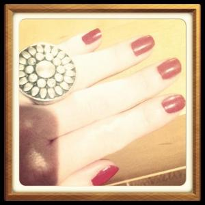 Day 10: Red Nail Polish