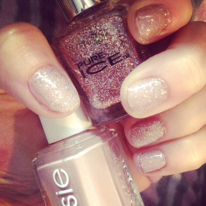 Essie Lady Like and Pure Ice Spitfire Polish