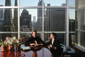 Halston with Liza Minelli in his former office.