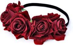 Rose Flower Crown Headband