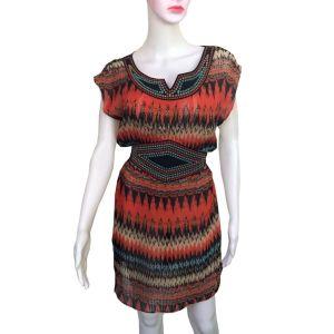 Vintage Aztec Print Boho Tunic