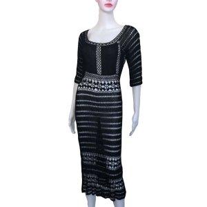 Vintage Crochet Boho Dress