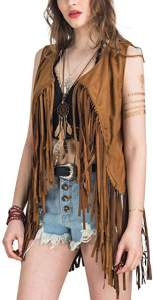 Woodstock style fringe vest